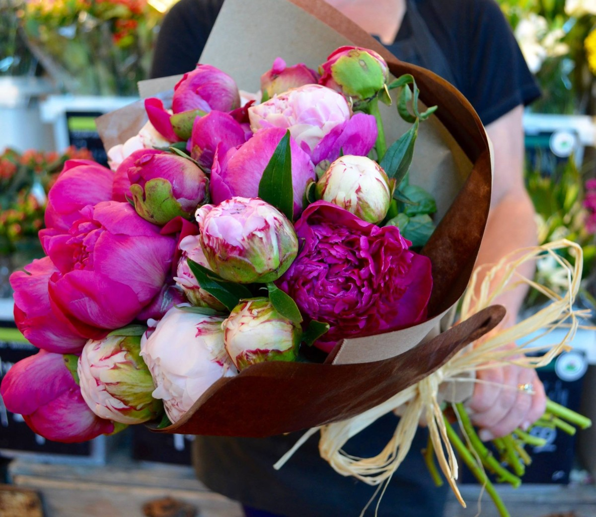 Luscious summer love peonies proudly grown in Colorado basecamp frisco